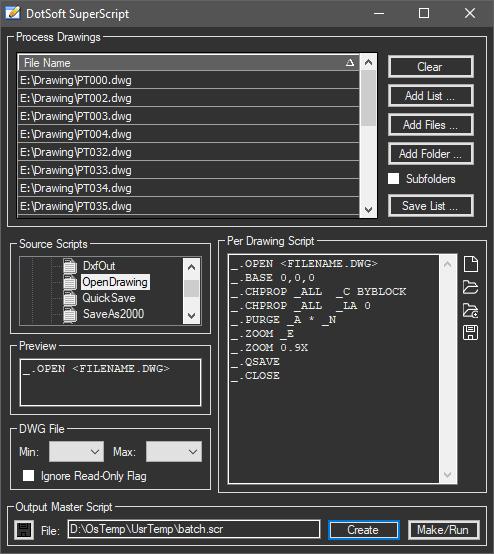AutoCAD Script Generator - SuperScript 2 0